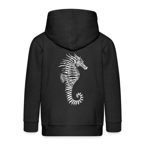 Alien Seahorse Invasion - Kids' Premium Zip Hoodie