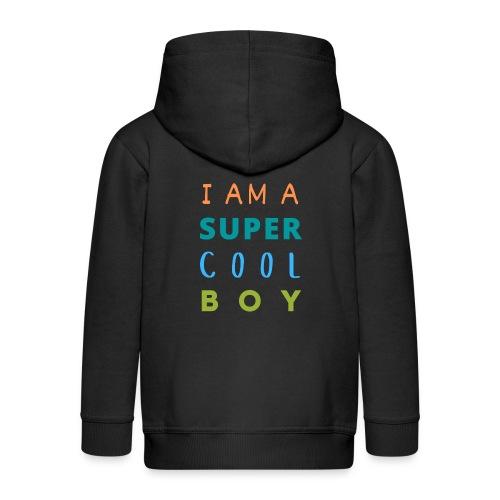 I AM A SUPER COOL BOY - Kinder Premium Kapuzenjacke