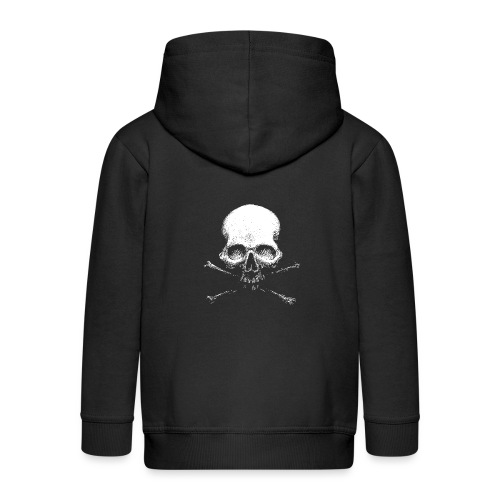 Old Skull - Felpa con zip Premium per bambini