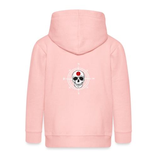 Skull Japanese - Kids' Premium Zip Hoodie