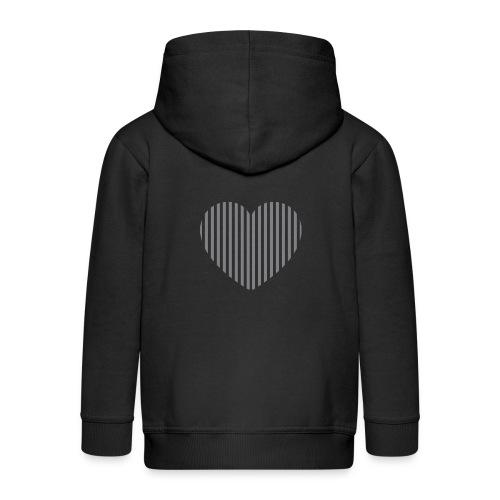 heart_striped.png - Kids' Premium Zip Hoodie