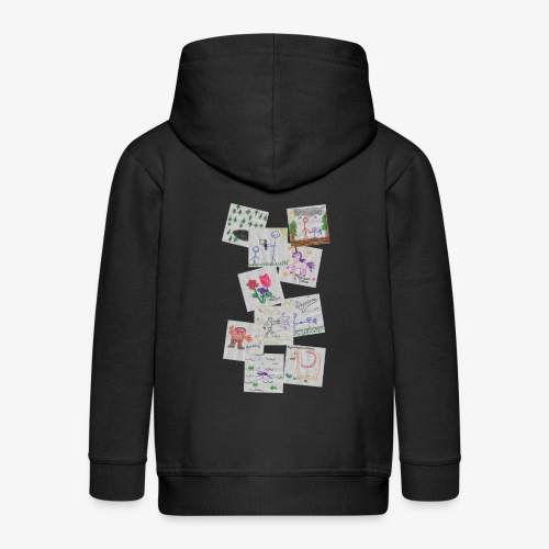 Drawings - Kids' Premium Zip Hoodie
