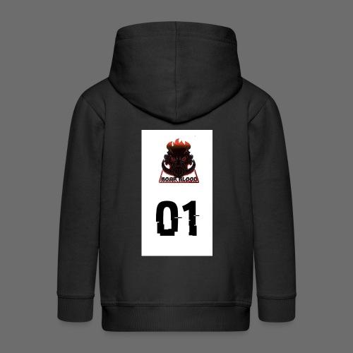 Boar blood 01 - Rozpinana bluza dziecięca z kapturem Premium