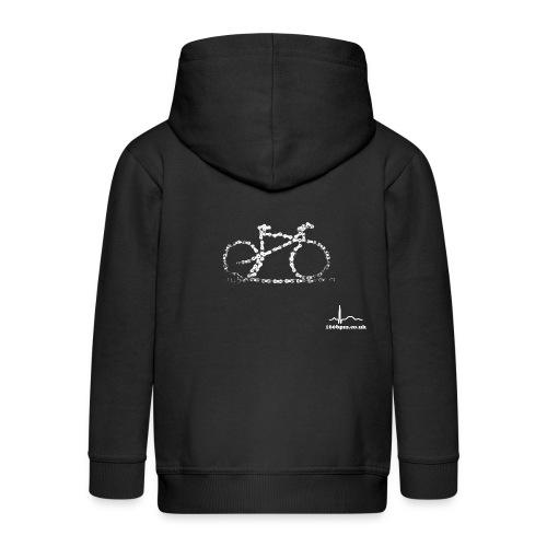 Cycling Bike Chain 160bpm.co.uk - Kids' Premium Zip Hoodie
