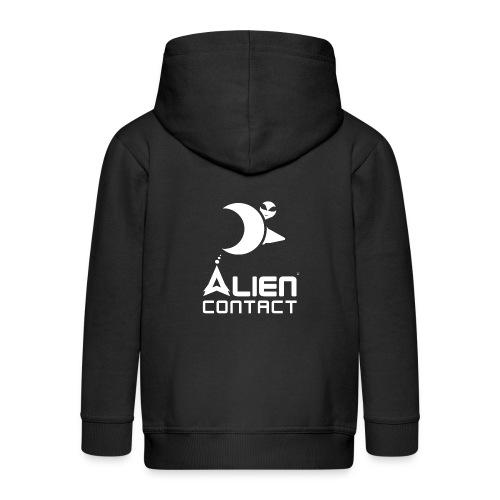 Alien Contact - Felpa con zip Premium per bambini