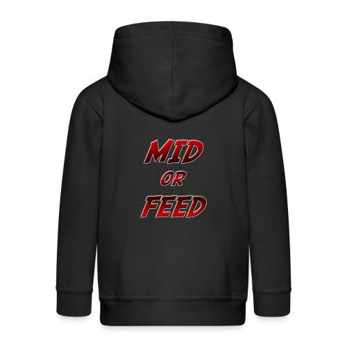 Mid or feed - Felpa con zip Premium per bambini