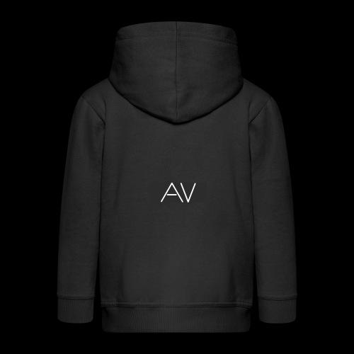AV White - Kids' Premium Zip Hoodie