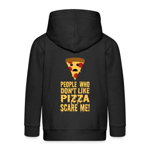 Lustiger Pizza Spruch - Kinder Premium Kapuzenjacke