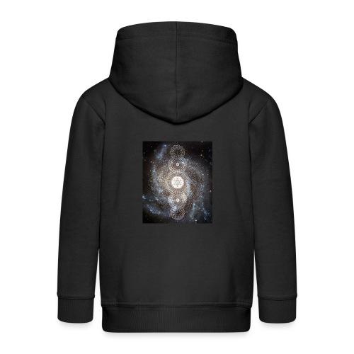 Metatron's Universal Geometric Dimension - Kids' Premium Zip Hoodie
