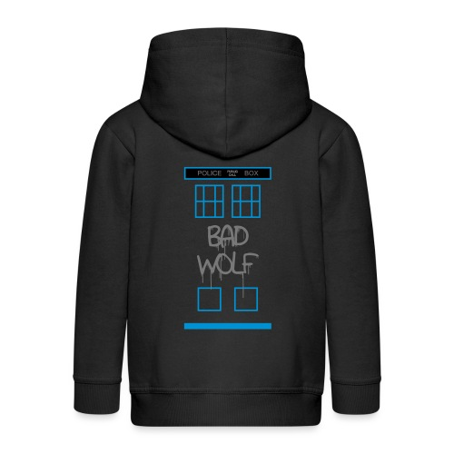 Doctor Who Bad Wolf - Felpa con zip Premium per bambini