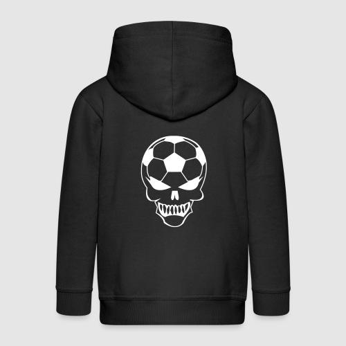 Fußball-Totenkopf - Kinder Premium Kapuzenjacke