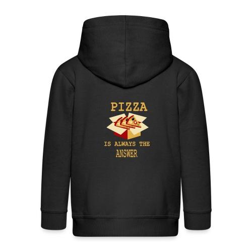 La pizza è sempre la risposta - Felpa con zip Premium per bambini