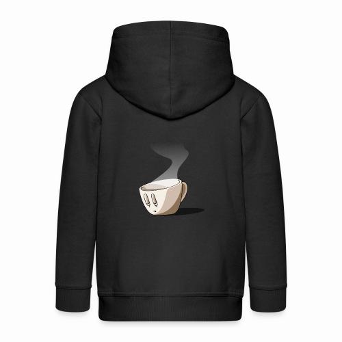 Coffee... - Veste à capuche Premium Enfant