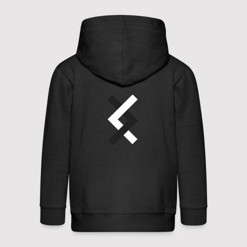 DANE - Black & White - Kids' Premium Zip Hoodie