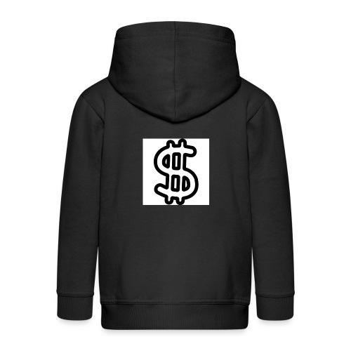 geld symbol hand gezeichnet umriss 318 51951 - Kinder Premium Kapuzenjacke