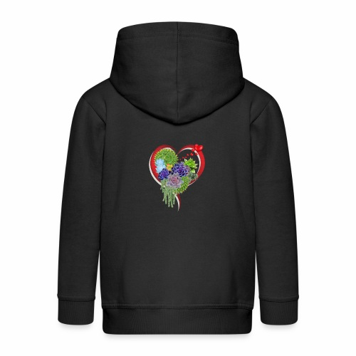 With Love - Kids' Premium Zip Hoodie