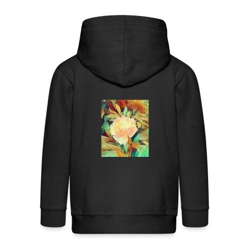 Flower - Kinder Premium Kapuzenjacke