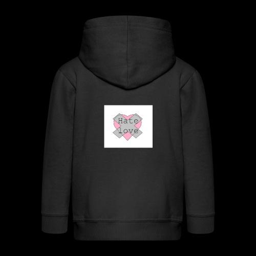 Hate love - Chaqueta con capucha premium niño
