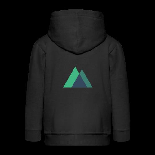 Mountain Logo - Kids' Premium Zip Hoodie
