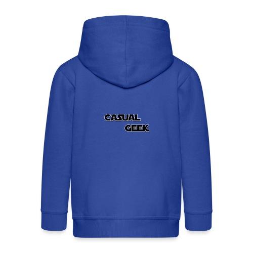 CasualGeek Standard Logo - Kids' Premium Zip Hoodie