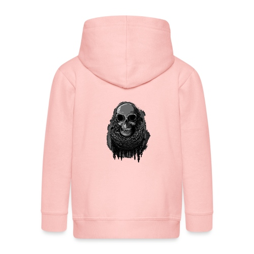 Skull in Chains - Kids' Premium Zip Hoodie