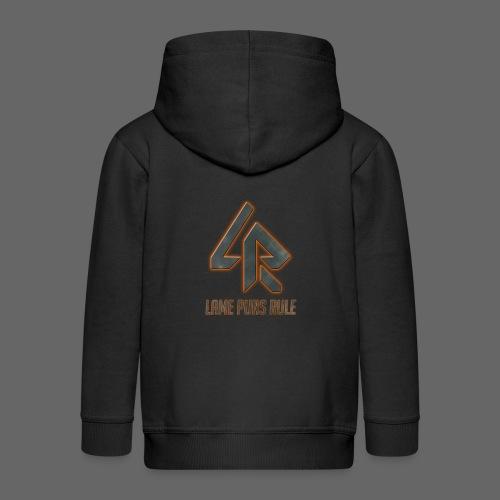 Lame Puns Rule: Logo - Kids' Premium Zip Hoodie