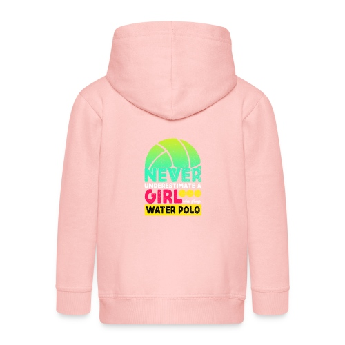 Never Underestimate A Girl Who Plays Water Polo - Kids' Premium Zip Hoodie