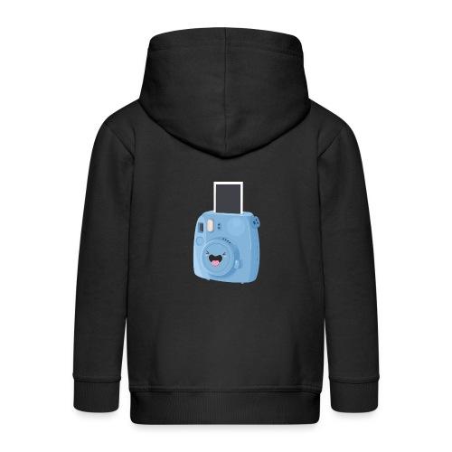 Appareil photo instantané bleu - Veste à capuche Premium Enfant