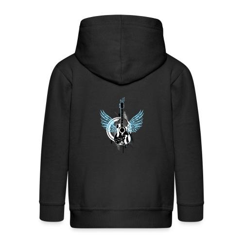 Gitarre guitar Flügel wings Graffiti Musik music - Kids' Premium Zip Hoodie