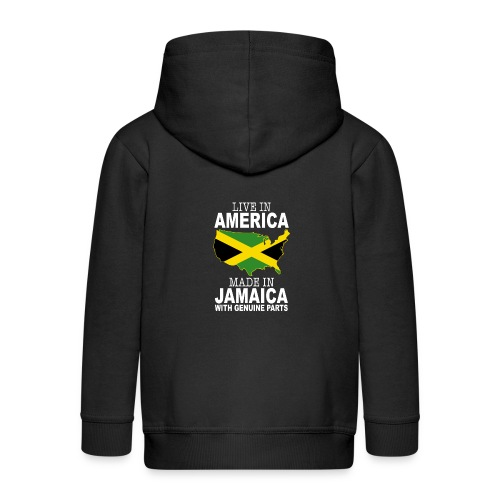 Live In America Made In Jamaica - Kids' Premium Zip Hoodie