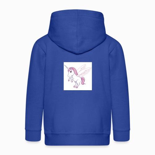 Petite licorne rose super mignonne!! - Veste à capuche Premium Enfant