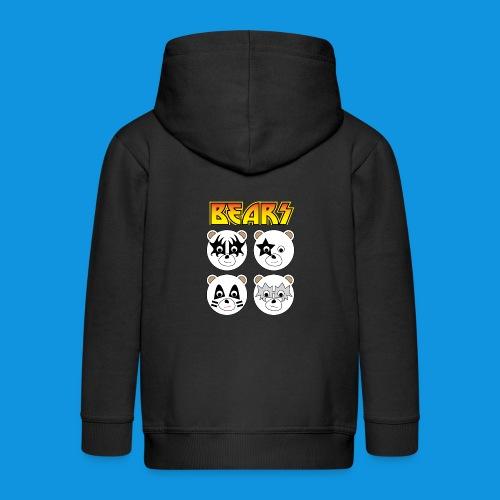 Kiss Bears square.png - Kids' Premium Zip Hoodie