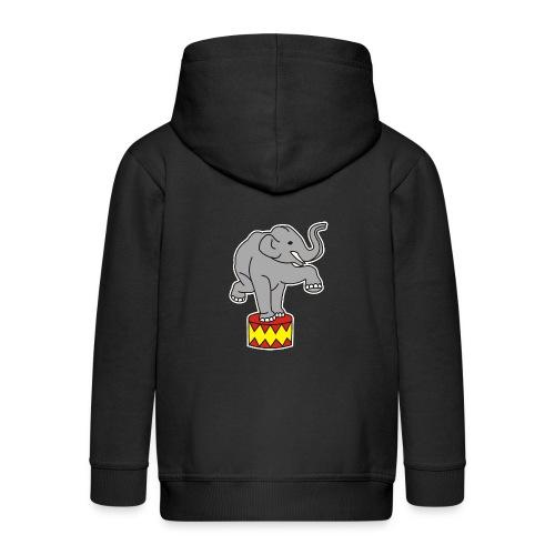 Zoo Zirkus Elefanten Circus Elephants Retro Comic - Kinder Premium Kapuzenjacke