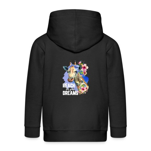 Reach For Your Dreams - Kids' Premium Zip Hoodie