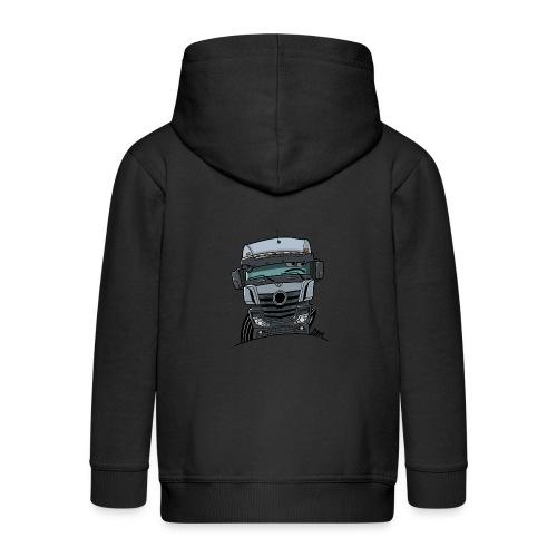 0807 M Truck grijs - Kinderen Premium jas met capuchon
