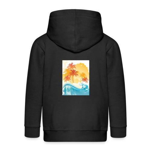Palm Beach - Kids' Premium Zip Hoodie