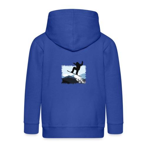 Snowboarder Action Jump | Apresski Shirt gestalten - Kinder Premium Kapuzenjacke