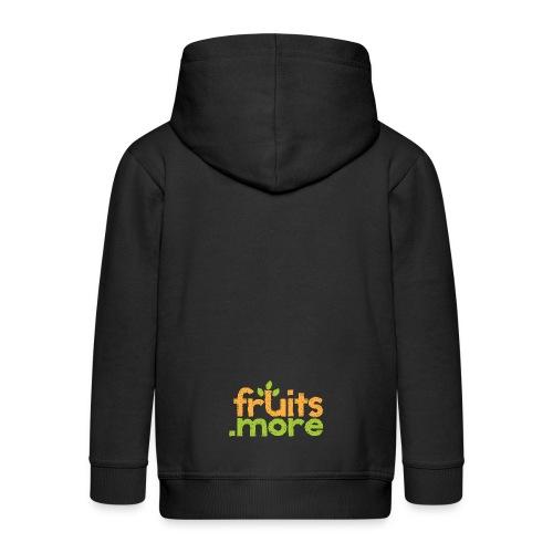 fruitsmore logo2 - Kinder Premium Kapuzenjacke