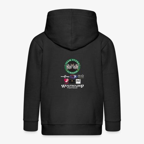 andy murphy back 0617 png - Kids' Premium Zip Hoodie