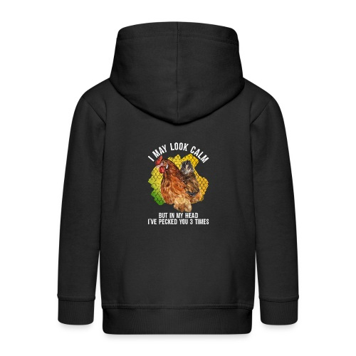I May Look Calm But In My Head - Kids' Premium Zip Hoodie