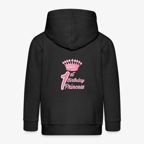 1st Birthday Princess - Felpa con zip Premium per bambini