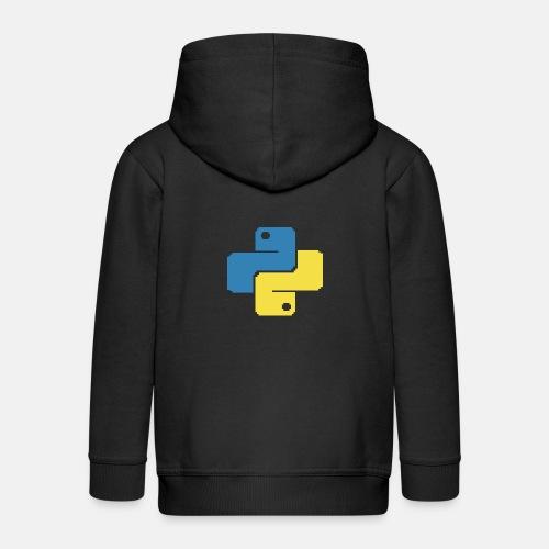 Python Pixelart - Kids' Premium Zip Hoodie