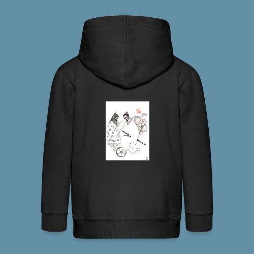 Samurai copia jpg - Felpa con zip Premium per bambini