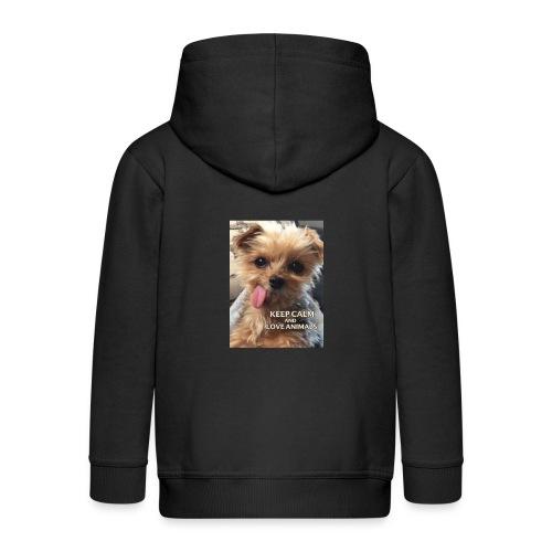 Dog - Kinder Premium Kapuzenjacke