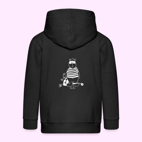 T-Shirt Bio schwarz RäuBär - Kinder Premium Kapuzenjacke