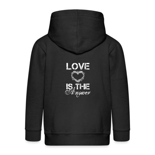 Love is the answer - Kinder Premium Kapuzenjacke