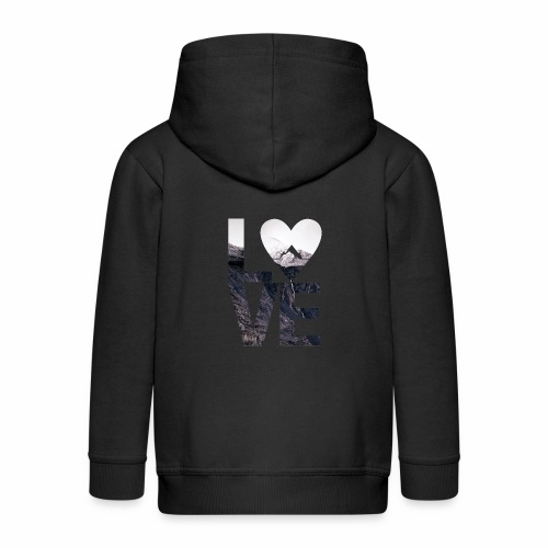 L.O.V.E - Mountains - Kinder Premium Kapuzenjacke