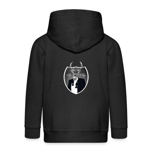 Deer in tuxedo - Kids' Premium Zip Hoodie