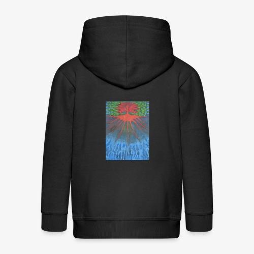 Drzewo Źycia - Rozpinana bluza dziecięca z kapturem Premium