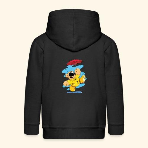 Der Bär tanzt im Regen - Kinder Premium Kapuzenjacke